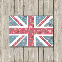 Union Jack Printable 5 x 7 Instant Download by MossAndTwigPrints, $5.00