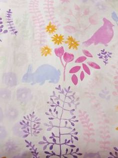 QUILT COVERS FRIENDS OF THE FOREST PURPLE SINGLE KIDS BEDDING