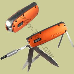 Gerber Fit Flashlight Multitool Orange 30-000376 - $29.99