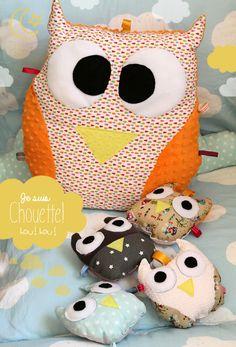 Chouette coussin (un chouette coussin) - Owl Pillow