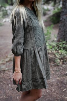 """Cotton woven linen with lace detailing. Can be worn as a dress or a tunic! (See photos of the Black worn as a tunic) SIZING Small (2-6) Medium (6-10) Large (10-14) Model is 5'4"""" size 2 wearing SMALL"""