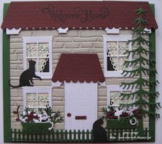 This would be a cute scrap page if you put pictures in the windows and on the door.