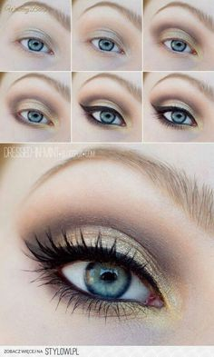 Make up for Mari's formal. Perfect for blue eyes and blonde hair!