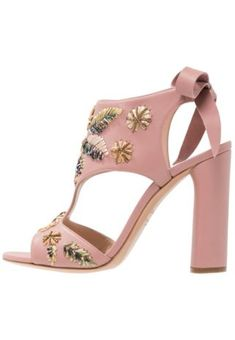 Casadei High heeled sandals rosa Sale at Zalando UK Rosa Rose, Heeled Mules, Heeled Sandals, High Heels, Footwear, Service Client, Leather, Fashion, High Heels Sandals