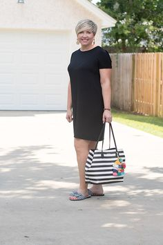699fe08f7b8 The easiest summer outfit 4 ways. Tshirt Dress OutfitBlack ...