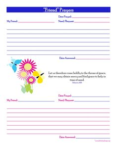 Home Management Notebook | Prayer journal template and Printable ...