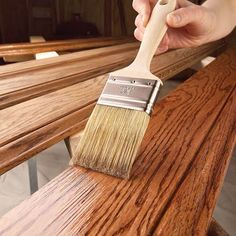 Finishing Wood Trim With Stain and Varnish Stained Trim, Natural Bristle Brush, How To Varnish Wood, Sanding Wood, Painting Trim, Wood Trim, Wood Projects, House Projects, Wood Crafts