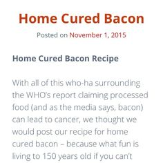If you're having trouble finding good quality bacon without all of the nasty additives (sugar preservatives sodium benzoate - whatever the hell that is) check out our recipe for home cured bacon; no special equipment required! Link to blog in bio or at http://ift.tt/1RxmYrn #healedbybacon #paleo #primal #iqs #iqs4life #movenourishbelieve #whole30 #whole30challenge #autoimmune #autoimmunepaleo #aip #hashimotos #addisons #lowcarb #lchf #homemade #wapf #21dsd by healedbybacon