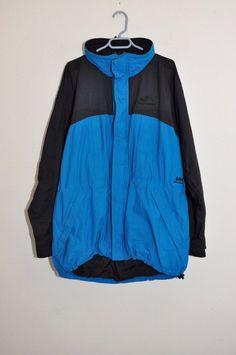 HELLY HANSEN Blue Black Winter Coat SKI JACKET Sz Men's XL Snowboard   #HellyHansen #SkiJacket