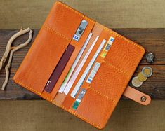 Your place to buy and sell all things handmade Leather Men, Leather Wallet, Travel Crafts, Groomsman Gifts, Leather Accessories, Italian Leather, Leather Craft, Watch Bands, Etsy