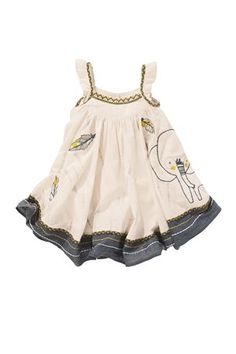 Buy Elephant Appliqué Dress from the Next UK online shop Cute Little Girls, Little Girl Dresses, Girls Dresses, Toddler Outfits, Kids Outfits, Elephant Dress, Elephant Print, Applique Dress, Kid Styles