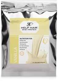 Help Hair Shake Mini's Single Serving On-the-go Pouches for the busy traveler, or take it to the gym, or for your afternoon snack. The same great taste but in single packets. The single serving packets keep the shake fresh and we have both of your favorite flavors, chocolate and vanilla.