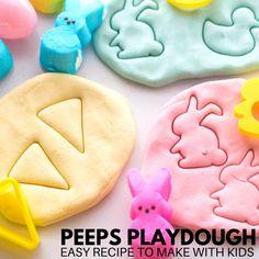 Easter Peeps Playdough Recipe | Little Bins for Little Hands