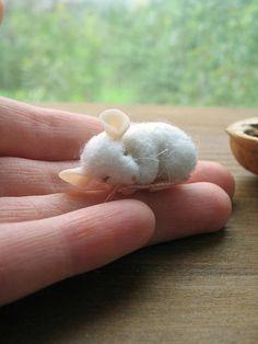 Felted muis naald vilten Mouse muis miniatuur muis muis