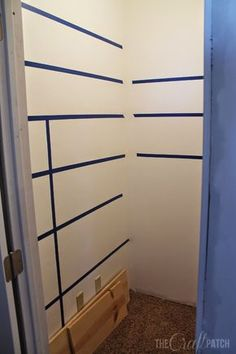 How to Build Pantry Shelving DIY: How to Build Pantry Shelves – this is an excellent tutorial that starts out by using painter's tape to mark where your shelves will be. This post shows each step – via The Craft Patch - Own Kitchen Pantry Pantry Shelving, Closet Shelves, Pantry Storage, Pantry Organization, Pantry Ideas, Pantry Diy, Closet Ideas, Organized Pantry, Organization Ideas