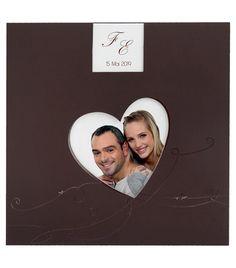 Faire-part original chocolat coeur vernis