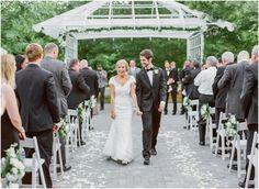 Bride and Groom Exit Foxhall Resort Wedding