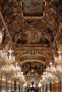 Palais Opera Garnier in Paris is undoubtedly one of the most exquisite buildings in the city. If you can't make it out to Versailles when you're in Paris this is definitely the next best option to explore that classic french opulence ✨ . Paris Travel, France Travel, Oh The Places You'll Go, Places To Travel, Image Paris, Paris Opera House, Louvre, Paris Ville, Beautiful Architecture