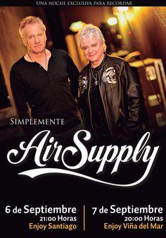 Air Supply - 06 de septiembre en Enjoy Santiago y 07 de septiembre en Enjoy Viña del Mar
