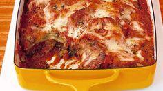 Baked-Eggplant Parmesan - Martha Stewart Recipes- so yum! Baked Eggplant, Eggplant Parmesan, Eggplant Recipes, Eggplant Lasagna, Grilled Eggplant, Zucchini Parmesan, Vegetable Recipes, Vegetarian Recipes, Cooking Recipes