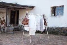 Lath Clothes Rack - @LIFE | shop.kamersvol.com Eco Furniture, Green Furniture, Recycled Furniture, Maker Shop, Online Marketplace, Recycled Wood, Rustic Interiors, Wardrobe Rack, Rustic Decor
