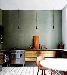 Fresco limepaint, glamorous kitchens Elle magazine the Netherlands