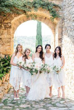 Photography : Kate Holstein   Wedding Dress : Vera Wang    Floral Design : Kelly Kaufman Read More on SMP: http://www.stylemepretty.com/2015/09/15/italian-destination-wedding-at-castello-di-vicarello/