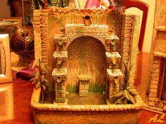 Tutorial de una fuente historiada – Nacimiento en Belén Coolpix, Ideas Para, Nativity, Mirror, Diy, Painting, Portal, Home Decor, Mix Media