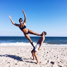 Social media sensation Hannah Bronfman loves to run and try new acro moves with her adorable fiancé.