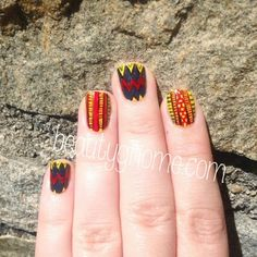 Love this, and to think she did it Free hand. Nail Art Wheel, Kente Cloth, Creativity, Inspire, Nails, Free, Inspiration, Finger Nails, Biblical Inspiration