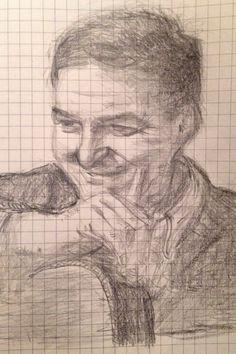 【鉛筆スケッチ】ジョアン・ジルベルトその2