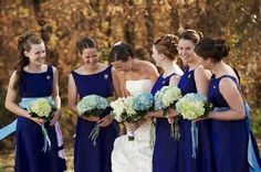 Hydrangeas for bridal bouquet
