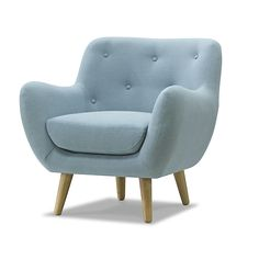 Now launched in South Africa, Sofacompany is a Danish online furniture shop with its own design team and production. Deco Furniture, Cool Furniture, Sofa Design, Single Couch, Canapé Simple, Blue Armchair, Retro Sofa, Soft Seating, Home Living