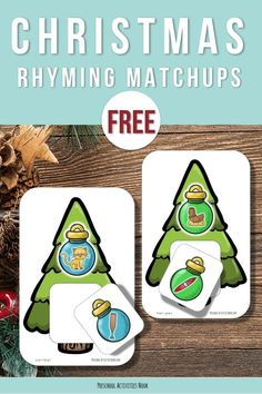 Playing games can make rhyming fun and easier to master. Grab these printable Christmas Rhyming Matchups today! :: www.thriftyhomeschoolers.com