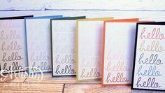 Fabulous Four Card Set by Jeanna Bohanon 2013 Stampin' Up! Artisan Design Team