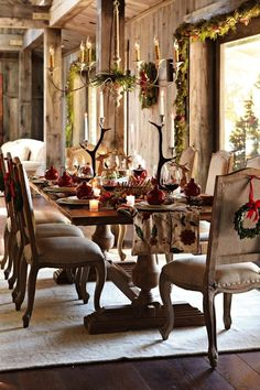 Mesas Decoradas de Natal.