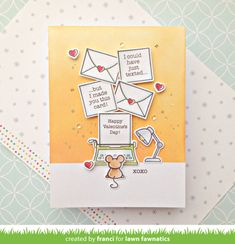 franci friday finally: Mice notes with Lawn Fawn! Snowflake Images, Paper Crafts Magazine, Something Old Something New, Lawn Fawn Stamps, Pretty Pink Posh, Easel Cards, Paper Tags, Happy Valentines Day, Valentine Cards