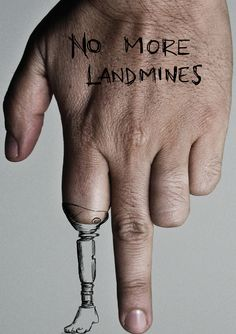 "Graphic Advocacy Posters: ""No More Land Mines"" by Viktor Manuel Barrera"
