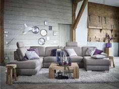 Model Modo. In deze luxe hoekbank is het heerlijk wegdromen na een drukke dag, even ontspannen en genieten van het heerlijke zitcomfort.