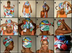 Doeks Turbans, Headscarves, Ropa Upcycling, African Scarf, Curly Hair Styles, Natural Hair Styles, Hair Wrap Scarf, Head Scarf Tying, Head Scarf Styles
