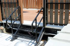 Metal Steps- Roof Deck @ Hell's Kitchen, NYC www.doridoors.com