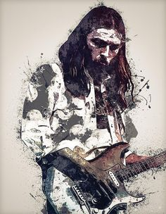 Browse through images in Lilia Kosvintseva's Pink Floyd Art collection. Portraits of the participants of the legendary group Pink Floyd Rock N Roll Art, Pink Floyd Art, Rock And Roll, Artwork, Music Artwork, Guitar Art, Movie Poster Art