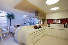 Designer de Interiores e Paisagista Iara Kílaris: modern tarz Mutfak