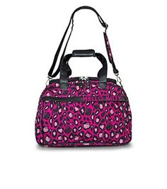 Hello Kitty Pink Leopard Print Duffle