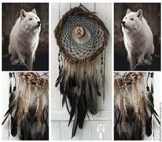 """Купить Ловец снов """"Под знаком волка"""" - ловец снов, ловушка снов, оберег"""
