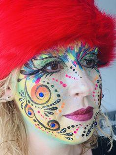 Sôkkertantes Make-up Paint von: Ingrid Breugelmans - Karneval - Schminke Crown Art, Ingrid, Face Art, Make Up, Face And Body, Halloween Face Makeup, October 31, Fantasy, Projects