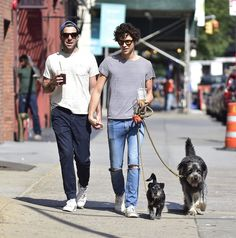 Zachary Quinto and Miles McMillan Have an Adorable Double Date . . . With Their Dogs