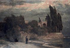 "1910-again: "" Arnold Bocklin, Villa by the Sea c.1872-1874 """