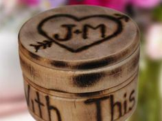 Small Custom Round Wood Ring Box | Green Bride Guide