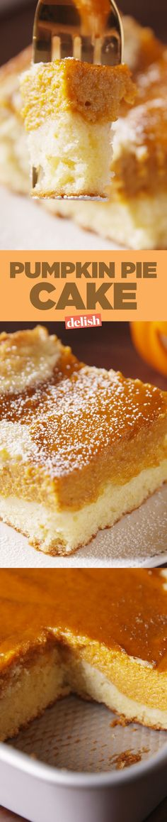 People are obsessed with Pumpkin Pie Cake, and for a good reason. Get the recipe on http://Delish.com.